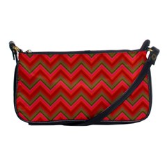 Background Retro Red Zigzag Shoulder Clutch Bags