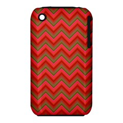 Background Retro Red Zigzag Iphone 3s/3gs