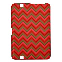 Background Retro Red Zigzag Kindle Fire Hd 8 9