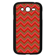 Background Retro Red Zigzag Samsung Galaxy Grand Duos I9082 Case (black)