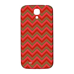 Background Retro Red Zigzag Samsung Galaxy S4 I9500/i9505  Hardshell Back Case