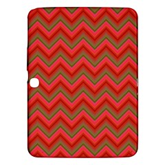 Background Retro Red Zigzag Samsung Galaxy Tab 3 (10 1 ) P5200 Hardshell Case