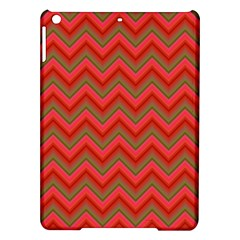 Background Retro Red Zigzag Ipad Air Hardshell Cases