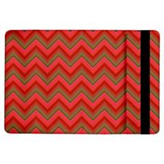 Background Retro Red Zigzag Ipad Air Flip