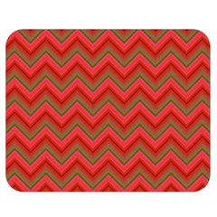 Background Retro Red Zigzag Double Sided Flano Blanket (medium)