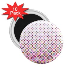 Pattern Square Background Diagonal 2 25  Magnets (10 Pack)