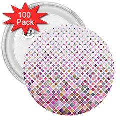 Pattern Square Background Diagonal 3  Buttons (100 Pack)