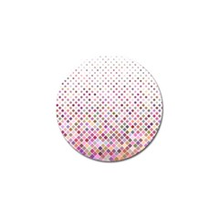Pattern Square Background Diagonal Golf Ball Marker