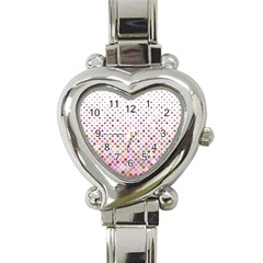 Pattern Square Background Diagonal Heart Italian Charm Watch