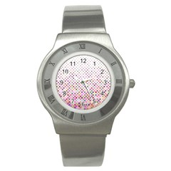 Pattern Square Background Diagonal Stainless Steel Watch