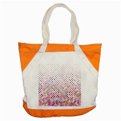 Pattern Square Background Diagonal Accent Tote Bag