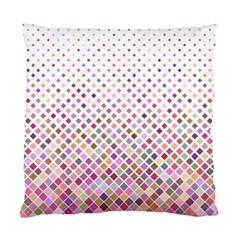 Pattern Square Background Diagonal Standard Cushion Case (two Sides)