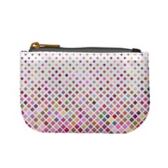 Pattern Square Background Diagonal Mini Coin Purses
