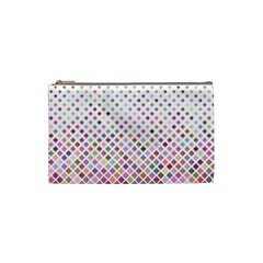 Pattern Square Background Diagonal Cosmetic Bag (small)