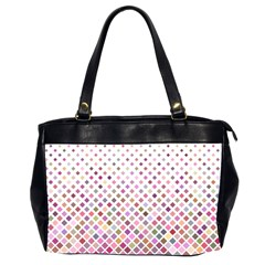 Pattern Square Background Diagonal Office Handbags (2 Sides)