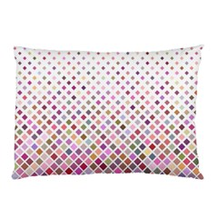 Pattern Square Background Diagonal Pillow Case (two Sides)
