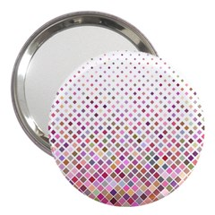 Pattern Square Background Diagonal 3  Handbag Mirrors