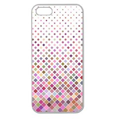 Pattern Square Background Diagonal Apple Seamless Iphone 5 Case (clear)