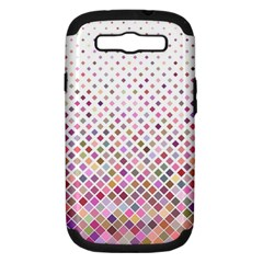 Pattern Square Background Diagonal Samsung Galaxy S Iii Hardshell Case (pc+silicone)