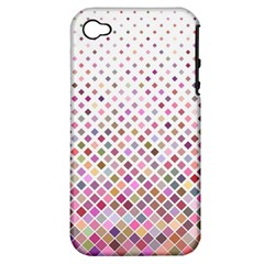 Pattern Square Background Diagonal Apple Iphone 4/4s Hardshell Case (pc+silicone)