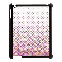 Pattern Square Background Diagonal Apple Ipad 3/4 Case (black)