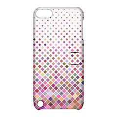 Pattern Square Background Diagonal Apple Ipod Touch 5 Hardshell Case With Stand
