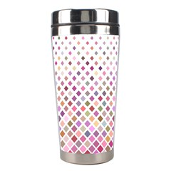 Pattern Square Background Diagonal Stainless Steel Travel Tumblers