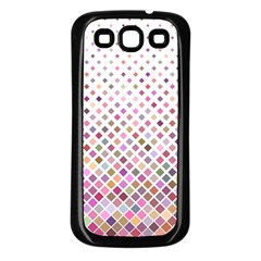 Pattern Square Background Diagonal Samsung Galaxy S3 Back Case (black)