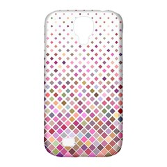 Pattern Square Background Diagonal Samsung Galaxy S4 Classic Hardshell Case (pc+silicone)