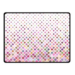 Pattern Square Background Diagonal Double Sided Fleece Blanket (small)