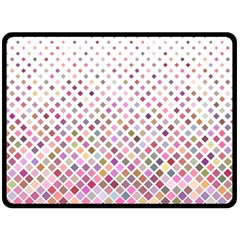 Pattern Square Background Diagonal Double Sided Fleece Blanket (large)