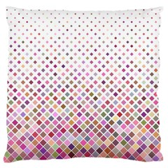 Pattern Square Background Diagonal Large Flano Cushion Case (one Side)