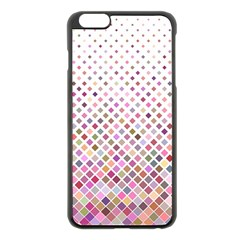 Pattern Square Background Diagonal Apple Iphone 6 Plus/6s Plus Black Enamel Case