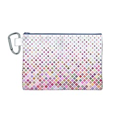 Pattern Square Background Diagonal Canvas Cosmetic Bag (m)