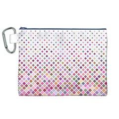 Pattern Square Background Diagonal Canvas Cosmetic Bag (xl)