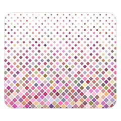 Pattern Square Background Diagonal Double Sided Flano Blanket (small)
