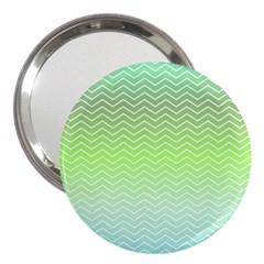 Green Line Zigzag Pattern Chevron 3  Handbag Mirrors