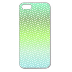 Green Line Zigzag Pattern Chevron Apple Seamless Iphone 5 Case (clear)