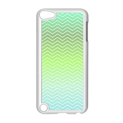 Green Line Zigzag Pattern Chevron Apple Ipod Touch 5 Case (white)