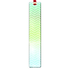 Green Line Zigzag Pattern Chevron Large Book Marks