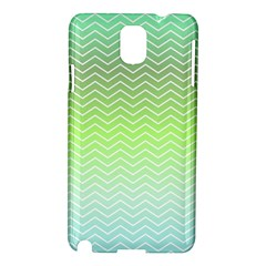 Green Line Zigzag Pattern Chevron Samsung Galaxy Note 3 N9005 Hardshell Case