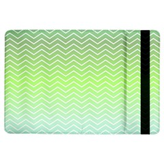 Green Line Zigzag Pattern Chevron Ipad Air Flip