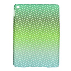 Green Line Zigzag Pattern Chevron Ipad Air 2 Hardshell Cases