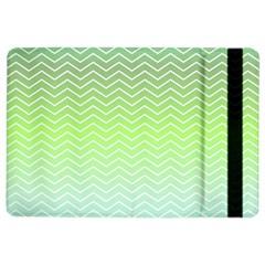 Green Line Zigzag Pattern Chevron Ipad Air 2 Flip