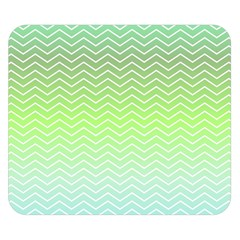 Green Line Zigzag Pattern Chevron Double Sided Flano Blanket (small)