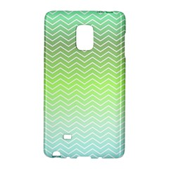 Green Line Zigzag Pattern Chevron Galaxy Note Edge