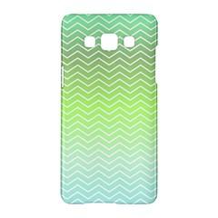 Green Line Zigzag Pattern Chevron Samsung Galaxy A5 Hardshell Case