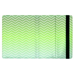 Green Line Zigzag Pattern Chevron Apple Ipad Pro 9 7   Flip Case