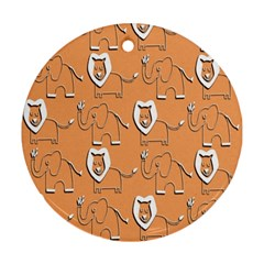 Lion Pattern Wallpaper Vector Ornament (round)