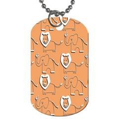 Lion Pattern Wallpaper Vector Dog Tag (two Sides)